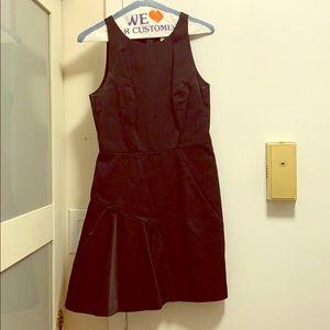 Milly short black sleeveless dress